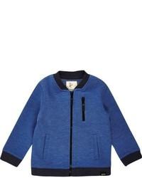 River Island Mini Boys Blue Zip Bomber Jacket