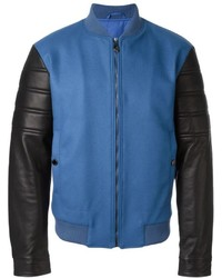 Versace Collection Contrasted Sleeve Bomber Jacket