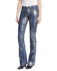 Ralph Lauren Collection 867 Coated Boot Cut Jeans Mercury Indigo