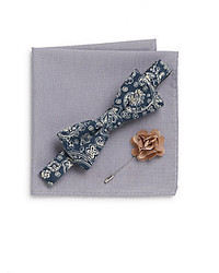 Original Penguin Great Sand Bow Tie Pocket Square Lapel Pin Gift Set