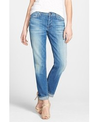 7 for all mankind josefina boyfriend jeans blue size 30 30 medium 311571