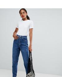 Asos Tall Asos Design Tall Balloon Leg Boyfriend Jeans In Dark Blue Wash