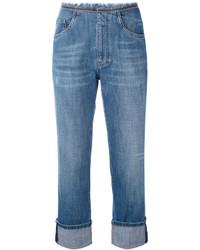 Brunello Cucinelli Boyfriend Cropped Jeans