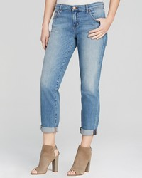 Eileen Fisher Boyfriend Jeans In Faded Blue