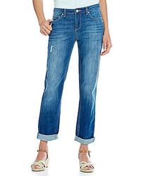 Code Bleu Petite Gracie Slim Boyfriend Jeans