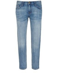 Current/Elliott The Boyfriend Straight Leg Cropped Jeans