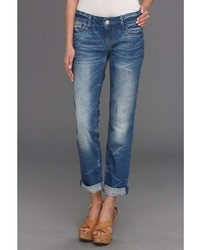 Mavi Jeans Emma Slim Boyfriend In Blue Rustic Apparel