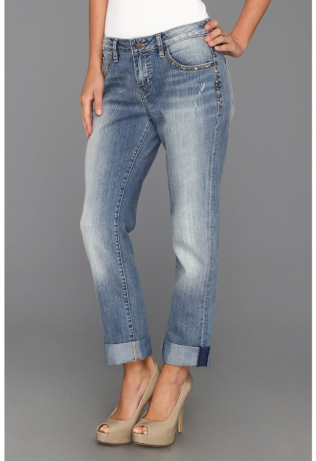 Jag Jeans Henry Relaxed Boyfriend W Studs In Classic Vintage ...