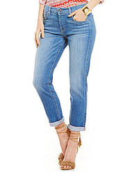 7 For All Mankind Josefina Boyfriend Vivid Authentic Blue Jeans