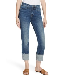 Frame Le High Big Cuff Straight Leg Jeans