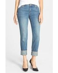 MICHAEL Michael Kors Michl Michl Kors Studded Cuff Boyfriend Jeans