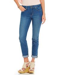 NYDJ Petite Leann Embellished Pocket Boyfriend Jeans