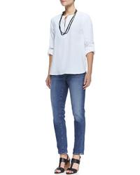 Eileen Fisher Stretch Boyfriend Jeans Aged Indigo