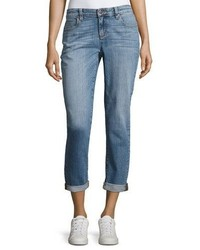 Eileen Fisher Stretch Boyfriend Jeans Sky Blue