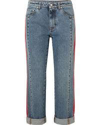 Alexander McQueen Striped Med Boyfriend Jeans