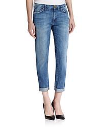 Current/Elliott The Fling Pinstriped Boyfriend Jeans