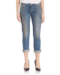 True Religion Slim Rolled Boyfriend Jeans  Blue