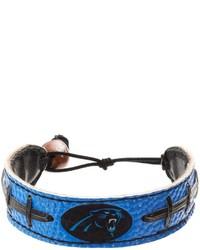 Gamewear Carolina Panthers Leather Football Bracelet