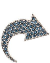 Sonia Rykiel Crystal Embellished Arrow Brooch