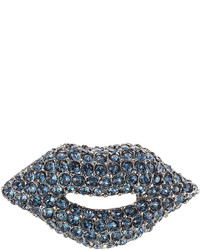 Sonia Rykiel Crystal Lips Brooch