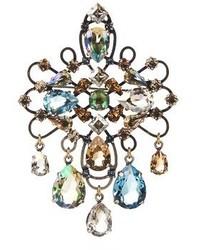 Lanvin Ginger Crystal Embellished Brooch
