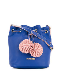 Love Moschino Pom Pom Bucket Bag