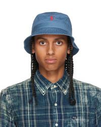 Polo Ralph Lauren Blue Cotton Bucket Hat