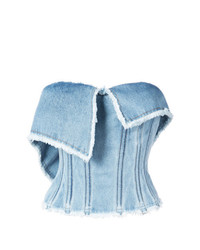 Natasha Zinko Denim Bustier Top
