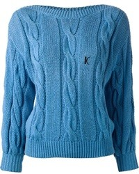 Blue cable sweater original 1332663