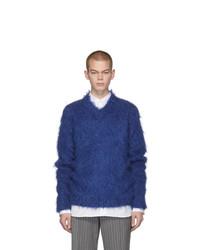 Marni Blue Mohair Brushed Finish Sweater