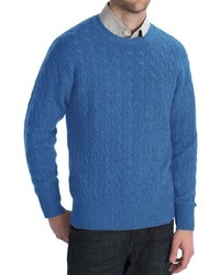 Johnstons of Elgin Cashmere Sweater Cable Knit