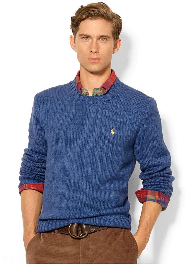 fcb604f1c1f ... Polo Ralph Lauren Sweater Crew Neck Cotton Pullover ...