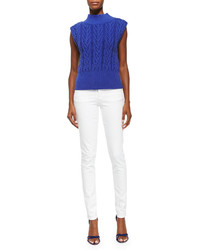 Alice + Olivia Queena Cable Knit Sleeveless Sweater