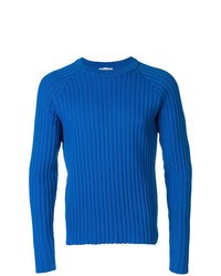 AMI Alexandre Mattiussi Ribbed Raglan Sleeves Sweater