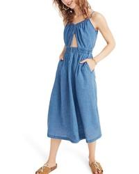 Madewell Indigo Cutout Camisole Dress