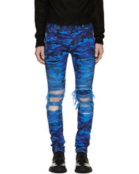 Blue camo destroy slim jeans medium 5268079