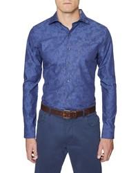 Hickey Freeman Regular Fit Camo Button Up Shirt