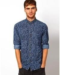 Selected Denim Camo Shirt