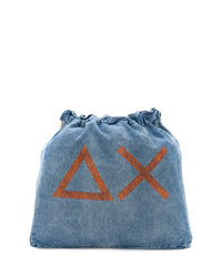 Sun 68 Drawstring Denim Backpack