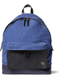 Porter Yoshida Co Leather Trimmed Canvas Backpack