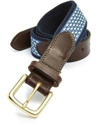 Whale club leather canvas belt medium 3751124