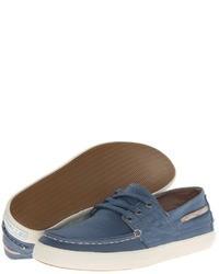 Blue Canvas Boat Shoes