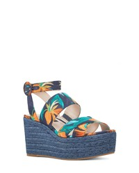 Nine West Kushala Espadrille Platform Wedge Sandal