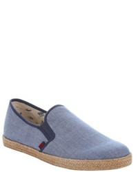 Ben Sherman Teal Canvas Jenson Espadrille Loafers