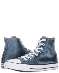 Converse Chuck Taylor All Star Hi Metallic Canvas Lace Up Casual Shoes