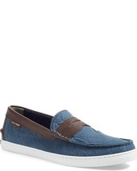 Blue Canvas Loafers