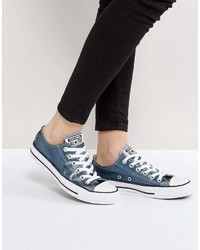 Chuck taylor all star metallic canvas sneakers in blue medium 6988076