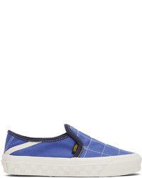 Vans Blue Taka Hayashi Edition 47 Lx Slip On Sneakers