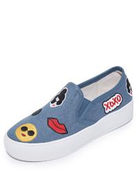 Alice + Olivia Pia Emoji Slip On Sneakers