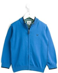 Armani Junior Zip Up Cardigan